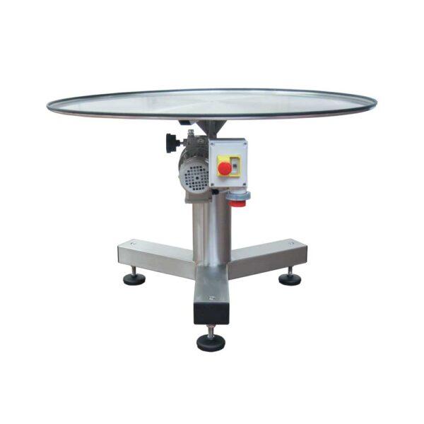 Tavolo rotante piano con bordo