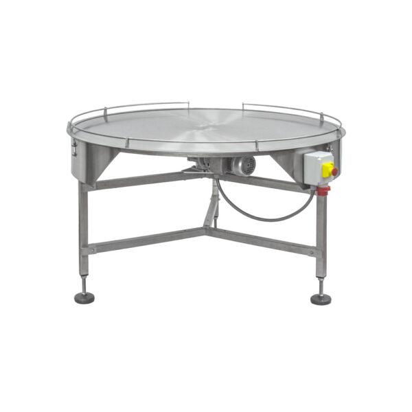 tavolo rotante piano con sponde