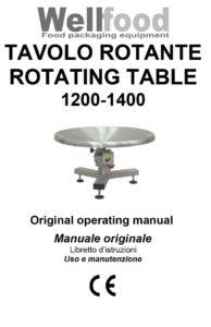 Tavoli rotanti manuale d'uso