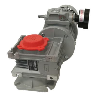 Tableau électrique équipé d'un interrupteur d'urgence, d'un interrupteur magnétothermique, d'une fiche d'alimentation intégrée 16 A. 4 pôles CE Table rotative Motovariator