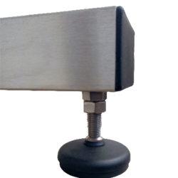 mesa giratoria de acero inoxidable