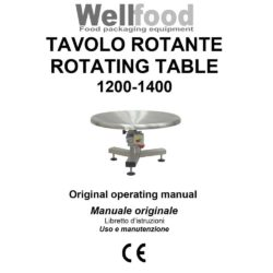 user manual wellfood packaging