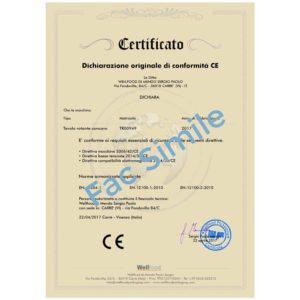 Certificato ce tavoli rotanti